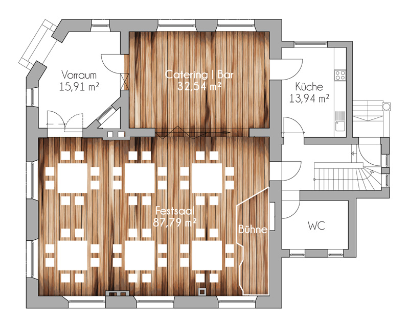 Friedenskirche Schwabach Eventlocation Festsaal Plan